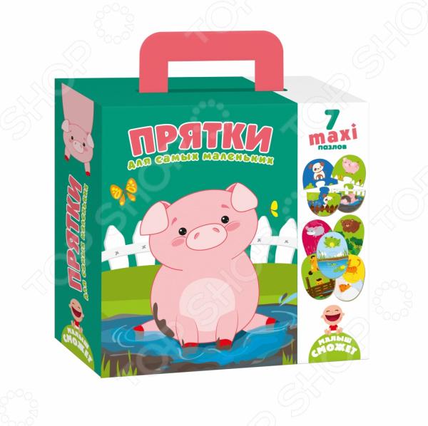 Пазл фигурный детский Vladi Toys «Прятки»