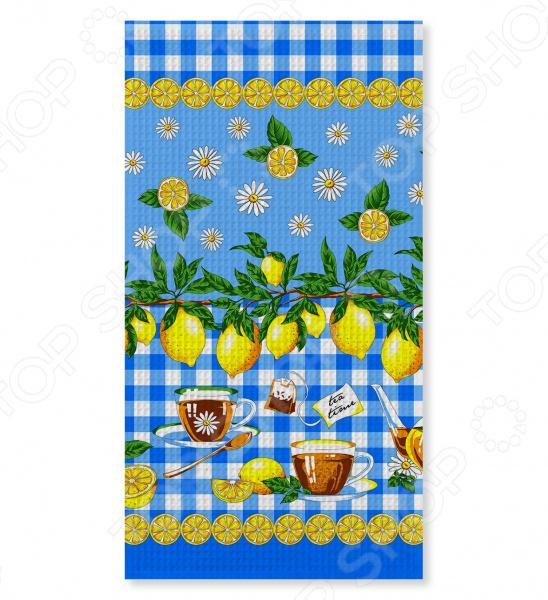 Полотенце вафельное Текстильная Лавка «Лимоны»