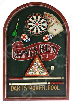 Коллаж настенный «Дартс, покер, бильярд» - артикул: 941019