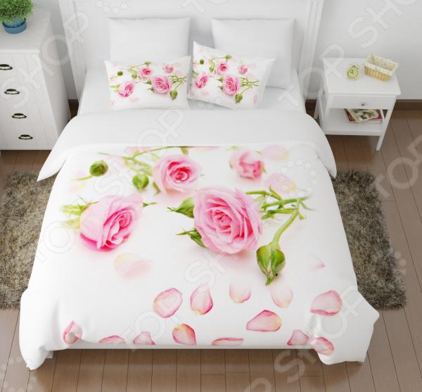 Комплект постельного белья Сирень «Лепестки роз» комплект постельного белья сирень лепестки роз