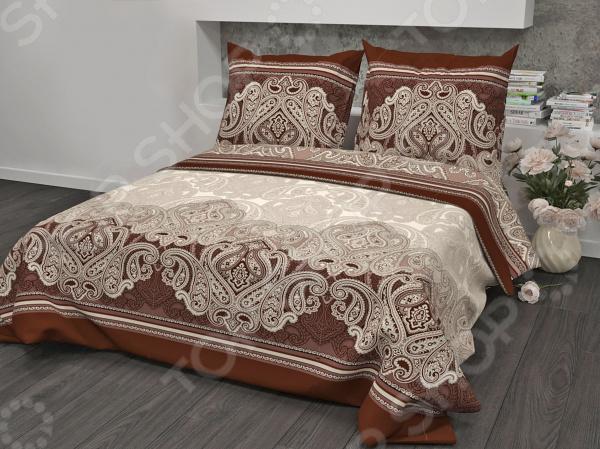 Комплект постельного белья Guten Morgen «Брауни» комплект белья guten morgen алый пион евро наволочки 69х69 pw 93 222 200 220 69