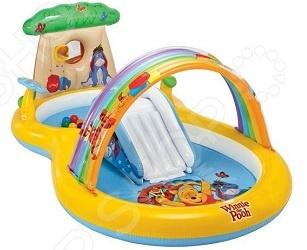 Игровой центр-бассейн надувной с горкой Intex «Винни Пух» надувной бассейн intex бассейн аквариум 152 56см