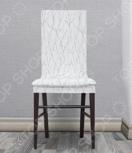Zakazat.ru: Комплект натяжных чехлов на стул Еврочехол «Ванесса». Рисунок: магнолия