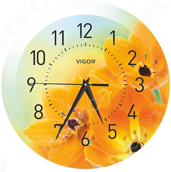 Часы настенные Vigor Д-29 «Оранжевое настроение»