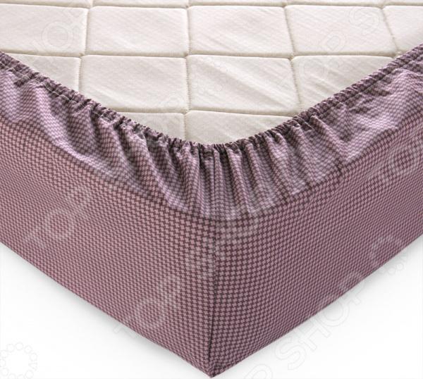 Zakazat.ru: Простыня на резинке ТексДизайн «Текстура». Цвет: шоколадный