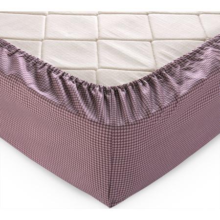 Купить Простыня на резинке ТексДизайн «Текстура». Цвет: шоколадный