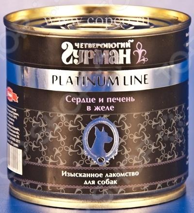 Корм консервированный для собак Четвероногий Гурман Platinum «Сердце и печень в желе»