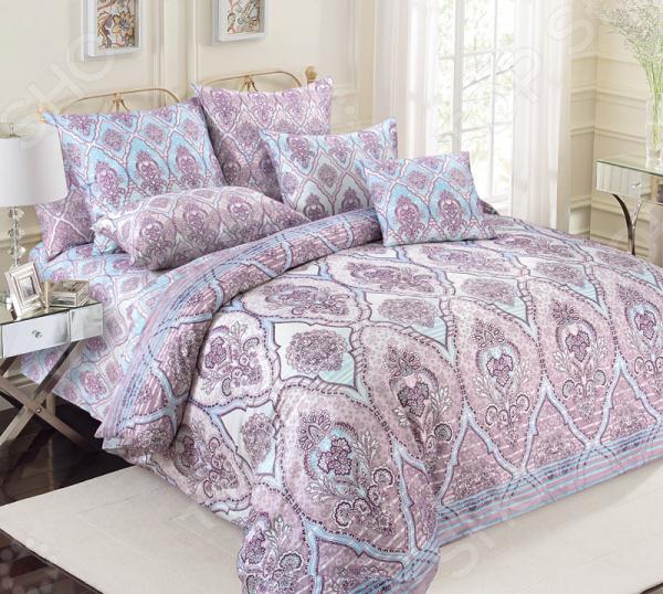 цена Комплект постельного белья Королевское Искушение «Роспись» онлайн в 2017 году