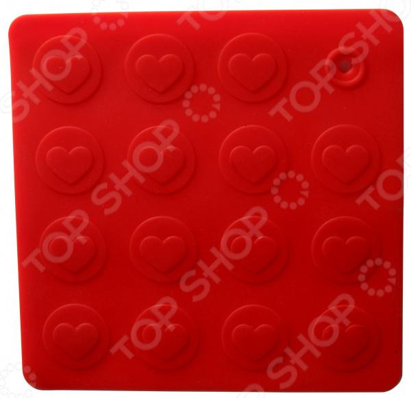 Подставка-прихватка под горячее Regent Silicone «Сердце» прихватка подставка цветы silicone 17 8х17 8 regent 693475