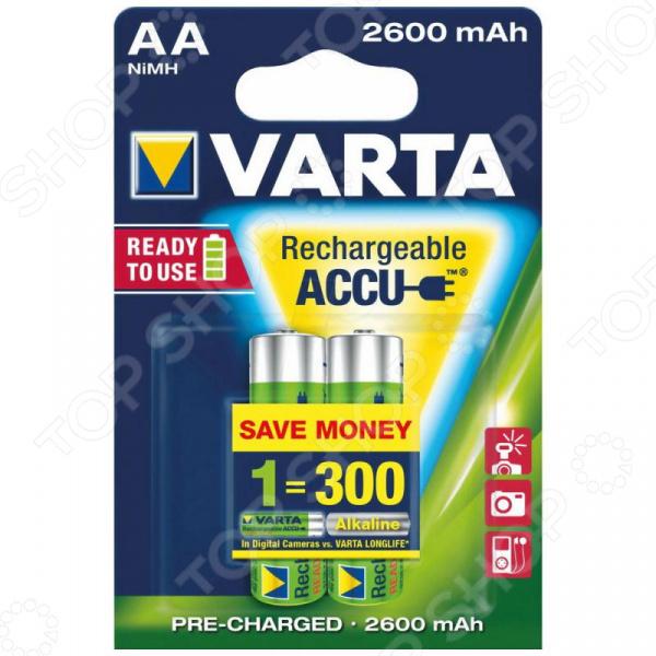 Батарея аккумуляторная VARTA AA R2U 2600мАч 2 шт. аккумуляторная батарея husqvarna bli100
