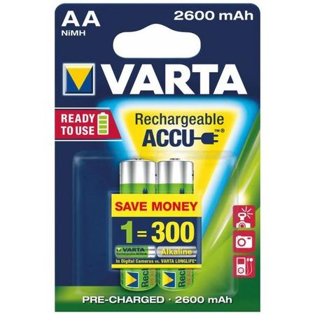 Батарея аккумуляторная VARTA AA R2U 2600мАч 2 шт.