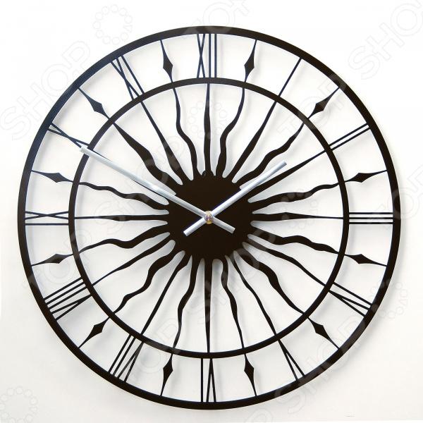 Часы настенные MEVOCLOCK «Солнце» Э003 солнце и сталь