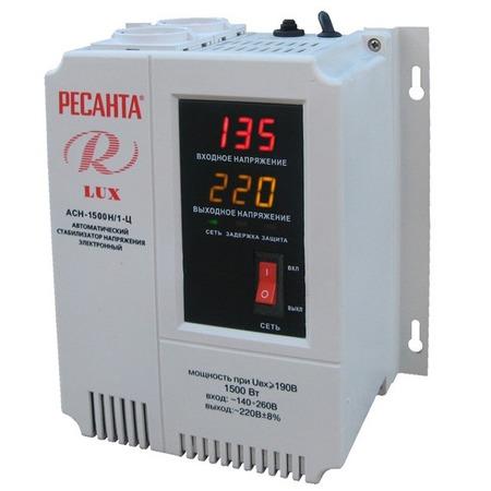 Купить Стабилизатор напряжения Ресанта АСН 1500 Н/1-Ц Lux