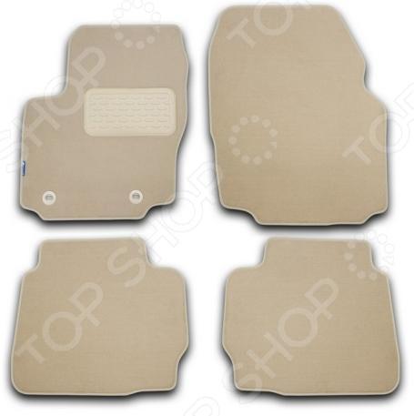 Комплект ковриков в салон автомобиля Novline-Autofamily Audi Q5 2008. Цвет: бежевый novline nlc 04 15 210 audi q5 01 2009 4 шт