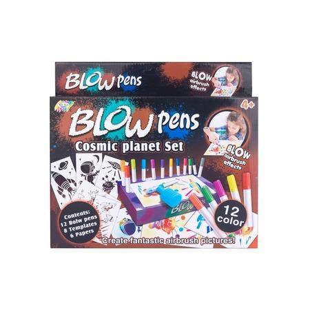 Набор фломастеров с распылителем Blow Pens «Космос»