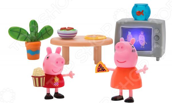 Игровой набор фигурок Peppa Pig «Пеппа и Мама смотрят фильмы»