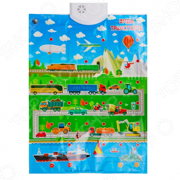 Плакат обучающий Наша Игрушка «Виды транспорта»
