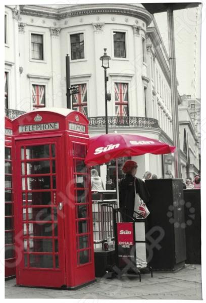Обложка для паспорта кожаная Mitya Veselkov «Лондонские будки» для собак будки