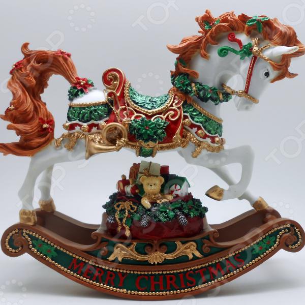 Музыкальная шкатулка Crystal Deco «Лошадка-качалка» 1707568