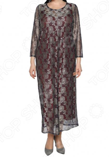 Платье Jenks «Роскошный образ». Цвет: бордовый платья jenks платье