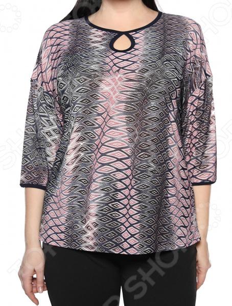 Блуза El Fa Mei «Искрометный танец». Цвет: серый, розовый блуза el fa mei искрометный танец цвет темно синий
