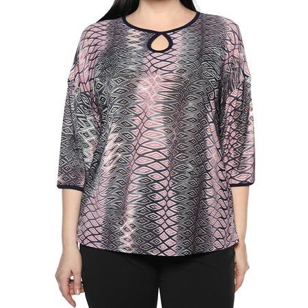 Купить Блуза El Fa Mei «Искрометный танец». Цвет: серый, розовый