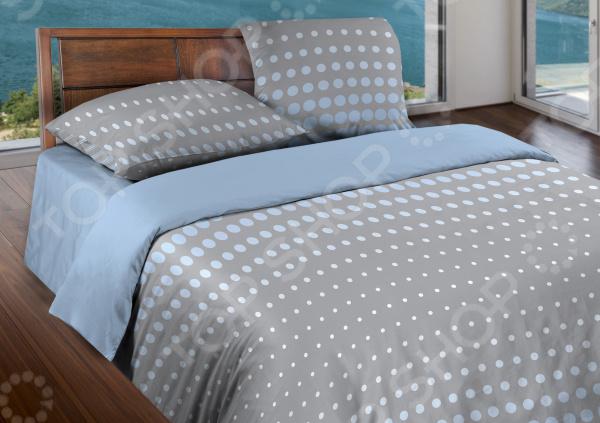 Комплект постельного белья Wenge Dot. 1,5-спальный. Цвет: серый