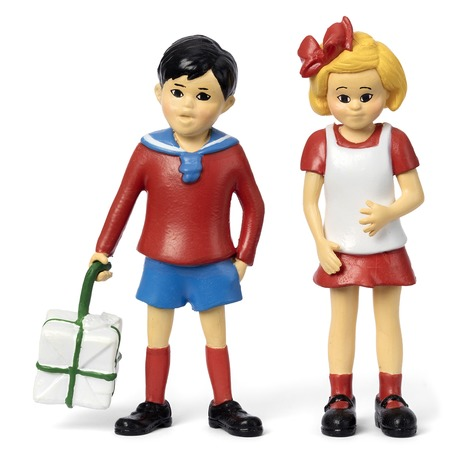Купить Набор кукол Micki «Пеппи Длинный Чулок. Томми и Анника»