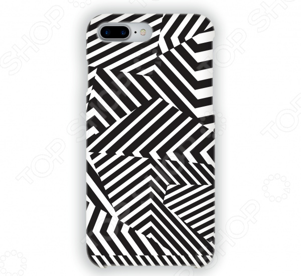 Чехол для iPhone 7 Plus Mitya Veselkov «Черно-белая геометрия» цена