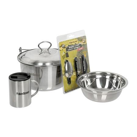 Купить Набор посуды для туриста Boyscout «Приготовь на костре»