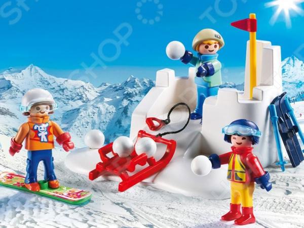 playmobil игровой набор зимние виды спорта снежки Конструктор игровой Playmobil «Снежки»