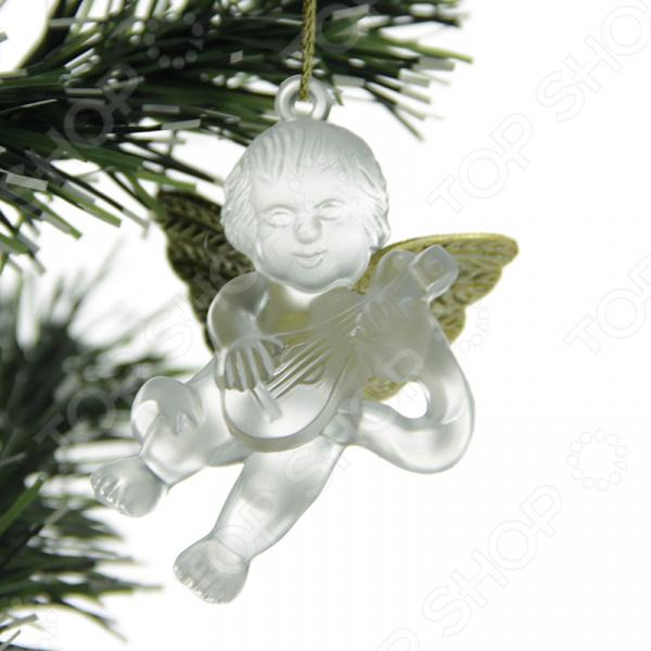 Елочное украшение Crystal Deco «Ангелочек». В ассортименте Елочное украшение со светодиодами Crystal Deco «Ангелочек» 1707696 /Золотистый/Серебристый