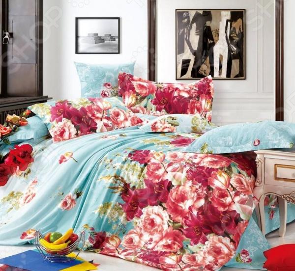 Комплект постельного белья Amore Mio «Светлая мечта». Provence. Семейный