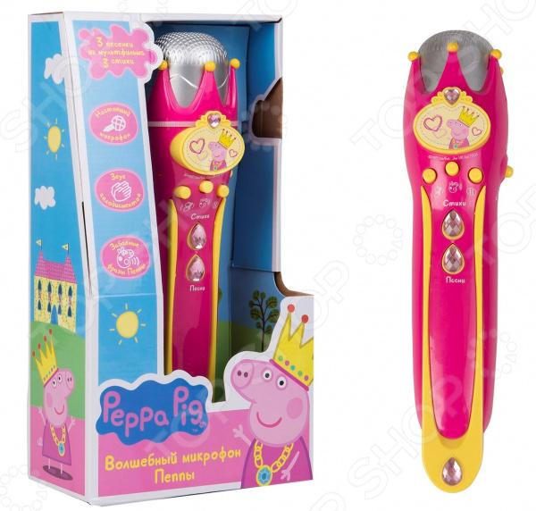 Микрофон музыкальный Peppa Pig с усилителем