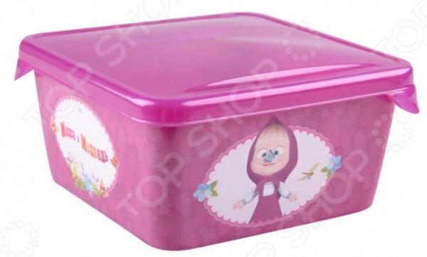 Детская емкость для хранения «Маша и Медведь» 0616004 емкость для хранения маша и медведь mini с крышкой цвет желтый 750 мл