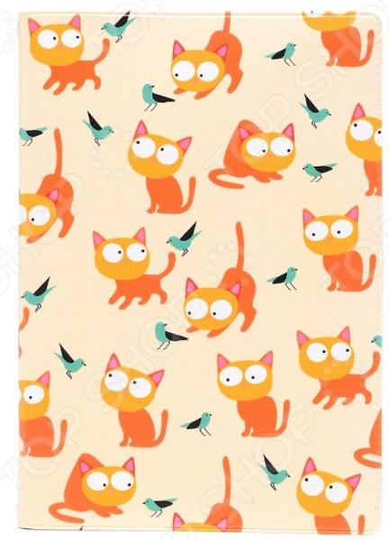 Обложка для паспорта кожаная Mitya Veselkov «Рыжие кошки» обложка для паспорта printio кошки