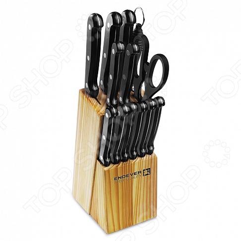 Набор ножей Endever Hamilton-018 endever набор кухонных ножей в подставке 14 пр hamilton 018 endever