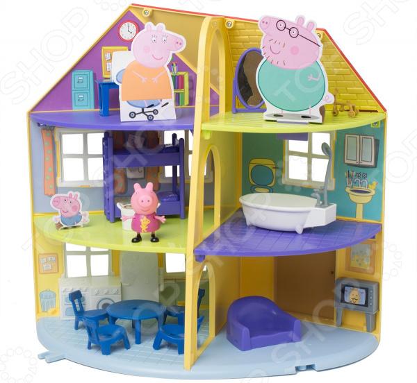 Игровой набор с фигуркой Peppa Pig «Трехэтажный дом Пеппы»