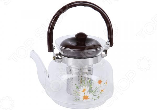 Чайник заварочный Rosenberg «Ромашки» чайник заварочный rosenberg rgl 250019 1 1l