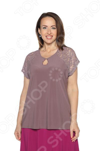 Блуза Pretty Woman «Счастливая капля». Цвет: фиолетовый блуза pretty woman волшебный взгляд цвет фиолетовый