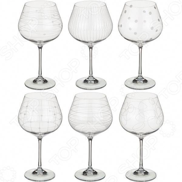 Набор бокалов для вина Bohemia Crystal «Виола микс» 674-418 набор бокалов для вина коралл 40729 00000 550 виола