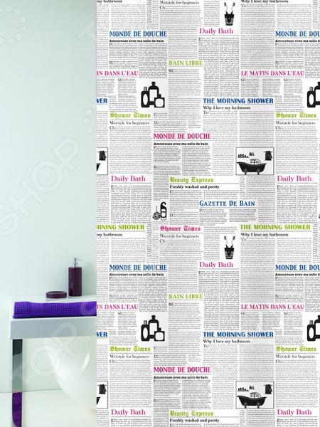 Штора для ванной Bacchetta Newspaper