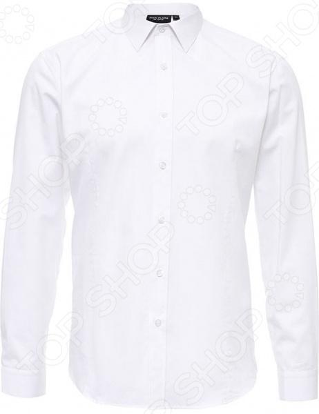Рубашка Finn Flare B17-21013. Цвет: белый