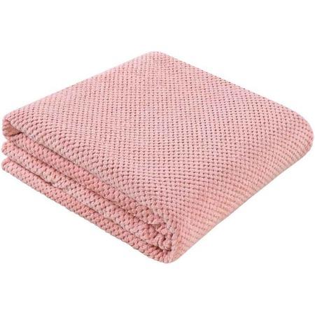 Купить Покрывало Guten Morgen «Розовый жаккард»