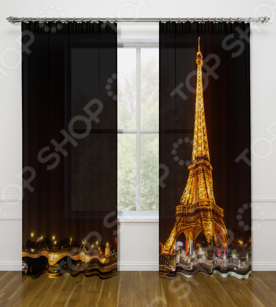 Фотошторы Стильный дом «Ночной Париж»