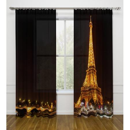 Купить Фотошторы Стильный дом «Ночной Париж»