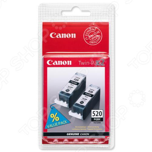 Набор картриджей струйных Canon PGI-520BK картридж canon pgi 520bk для pixma ip3600 ip4600 mp540 mp620 mp630 mp980 черный двойная упаковка