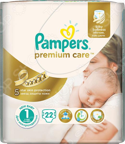 Подгузники Pampers Premium Care 2-5 кг, размер 1, 22 шт.