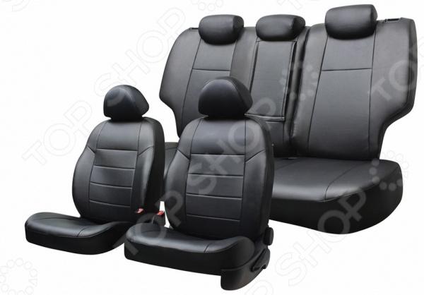 Набор чехлов для сидений Defly Hyundai Solaris, 2011-2017, седан, экокожа