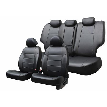 Купить Набор чехлов для сидений Defly Hyundai Solaris, 2011-2017, седан, экокожа